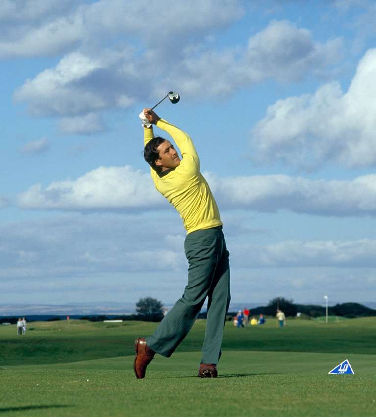 A classic image, Seve Ballesteros on the Old Course